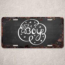 LP297 It's a Boy Sign Rust Vintage Auto Car License Plate Baby Shower Decor