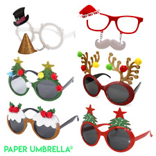 Funny Christmas Glasses Novelty Sunglasses 6 PACK Xmas party fancy dress specs