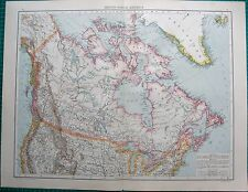 1893 ANTIQUE MAP - BRITISH NORTH AMERICA