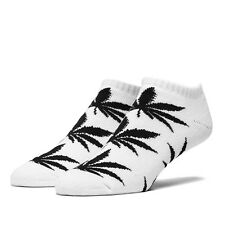 HUF - The No Show Plant Life Crew Sock in White/Black NWT HUF FREE SHIPPING