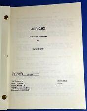 JERICHO original script 1988 by MARLON BRANDO The Godfather