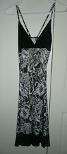Black/white/silver floral Diseño LIZBETH sleepwear nightgown slip One Size