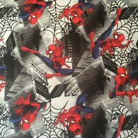 MARVEL Spiderman Fabric-FQ-100% Cotton-Quilting/Masks-Licensed-Great Graphics