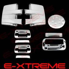 For 09-14 FORD F150 Chrome Mirror+2 Door W/O KP W/ PKH+Tailgate W/Cam+Gas Cover