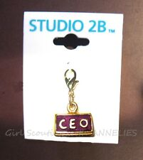 CHARM Senior Girl Scouts CEO Studio 2B GOLD CAREER AWARD. Briefcase Multi=1 Ship