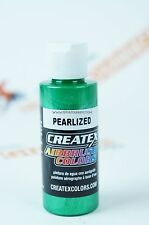 Createx Airbrush Colors 5305 Pearl Green 2oz. water-based pearlized paint