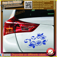 2 stickers autocollant fleur hibiscus deco voiture , frigo, ipad decal