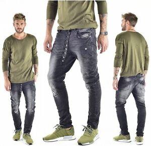 VSCT Clubwear Jeans Drake Asymmetrische Knopfleiste Buttonfly Low Crotch Humör