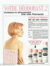 PUBLICITE ADVERTISING 115  1965  VICHY   déodorant