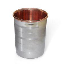 Copper Tumbler Handmade Hammered Drinking Glass Ayurveda Health Yoga Benifit