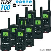 8 x Motorola Talker TLKR T60 2 Way Walkie Talkie 8km PMR 446 Radio - Eight Pack