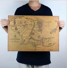 Lord of the Rings map kraft paper poster dinette bar decoration stickers