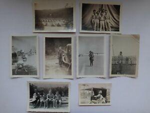 Collection De 8 Vintage WWII Black And White Photos États-Unis Soldats &