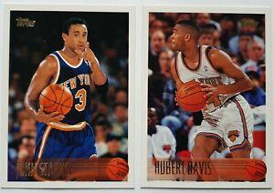 Lot de 2 Cartes Basketball NBA Topps 96-97 New York Knicks Starks / Davis