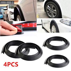 4pcs 1.5m Black Car Truck Wheel Fender Extension Moulding Flares Trim Strip Edge