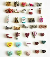 Authentic Origami Owl Valentine's Day Charms Love, Hearts, More Retired, htf