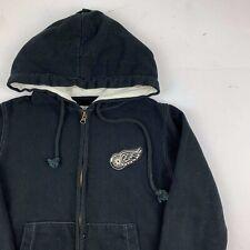 Detroit Red Wings Old Time Hockey Newbury NHL Black Zip Up Hoodie Sweater Small