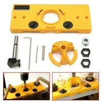 35MM Hinge Jig Forstner Bit Drill Guide Set For Kreg Door Hole Locator Useful US