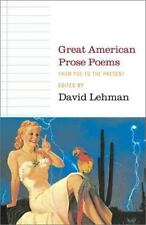 Great American Prose Poems: From Poe to the Present, Poetry, Literature, Prose,