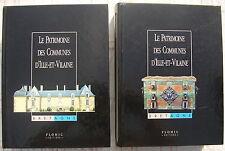 LE PATRIMOINE DES COMMUNES D'ILLE-ET-VILAINE 2 VOLUMES FLOHIC BRETAGNE FRANCE