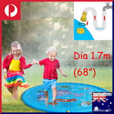 """68"""" Sprinkle Splash Play Mat Inflatable Pad Children Toddlers Water Spray Toy AU"""
