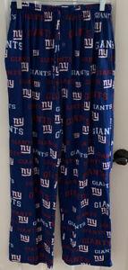 NICE! BLUE NEW YORK GIANTS PAJAMA BOTTOMS medium pants M NFL Team Apparel