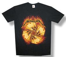Metallica-Flame Skulls-Black Lightweight T-shirt