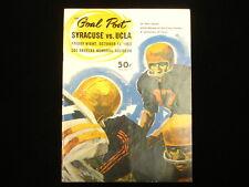 October 11, 1963 UCLA vs. Syracuse University Football Program
