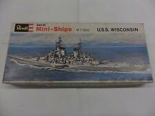 REVELL  MINI-SHIP  U.S.S. WISCONSIN   1:1200   SERIE H-2406  MODEL KIT