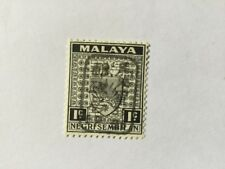 1942 Malaya Japan Occupation Negri S. 1c ovp Black MH Sold 'As Is'.CV Rm 195