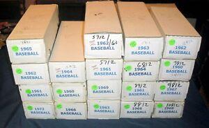 1960-69 TOPPS BASEBALL CARD LOT (10) *FROM 10,000 CARD SET BUILDER LOT* EX-NRMT