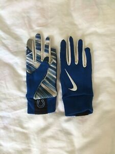 NFL Nike Indianapolis Colts On Field Gloves Sz XS Blue/White
