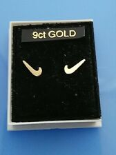 Pair of 9ct Gold baby Nike Swoosh Symbol Earrings