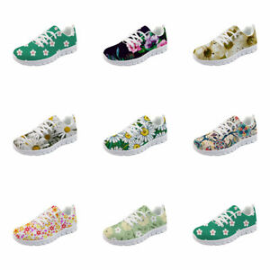 Women's Flowers Breathable Shoes Sports Sneaker Running Trainers Gym Smart Shoes
