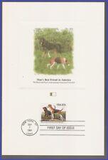 Usa #2101 U/A Fleetwood Proofcard Fdc Coonhound & American Foxhound