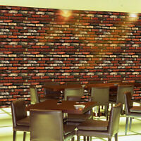 20Pack 3D Wall Paper Red Brick Stone Self-adhesive Wall Sticker Home Room Decor