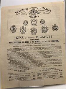 Dr Carles - Kina pour préparer soi même à la minute le vin de Quinquina. 1887