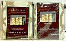 "LOT of 2 allen + roth Oberlin 50"" x 84"" Straw Cotton Curtin Panel 0005398 NEW"