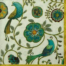 4 Single Paper Napkins -Bohemian Wings- for Party, Decoupage Decopatch Craft