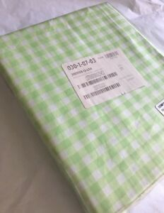 Company Store Bedding - Gingham Percale Flat Sheet Twin, Leaf Green 100% Cotton