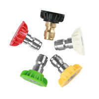 """1//4/"""" Male Stainless Steel High Pressure Jet Washer Nozzle 40° Angle Spray 02-10"""