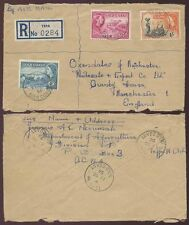 GOLD COAST TEPA REGISTERED to GB 6 POSTMARKS AIRMAIL 1956