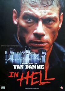 IN HELL  JEAN - CLAUDE VAN DAMME  Original 2003 POSTER  video store release
