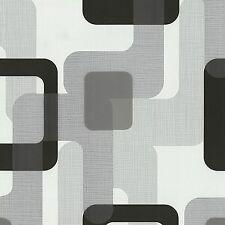 Novara Noir Gris Rétro Papier peint coller le mur vinyle texturé 13460-30