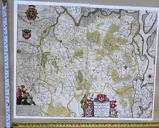 Historic Antique vintage Blaeu Map Brabant, Belgium, Netherlands 1600's: REPRINT
