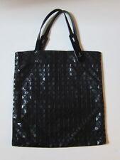 "Issey Miyake Pleats Please Black Bao Bao Bag Women's Handbag Tote 14""W x 15""L"