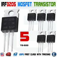 5pcs IRF3205 IR MOSFET N-CHANNEL 55V/110A TO-220 HEXFET Power Transistor IRF