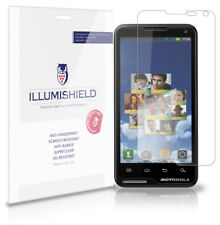 iLLumiShield Phone Screen Protector w Anti-Bubble/Print 3x for Motorola Motoluxe