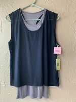 TANGERINE Navy Blue Exercise Active Fitness Tank Top Shirt Size small NWT