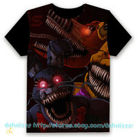 Anime Five Nights at Freddy's Tops Cosplay Summer Tee T-shirt Unisex Casual #2
